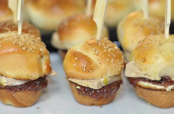 Mini Burger foie gras et figues