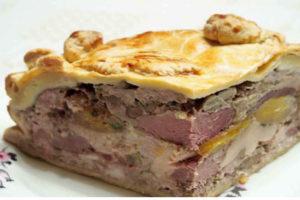 Tourte au magret et au foie gras- recette de fêtes
