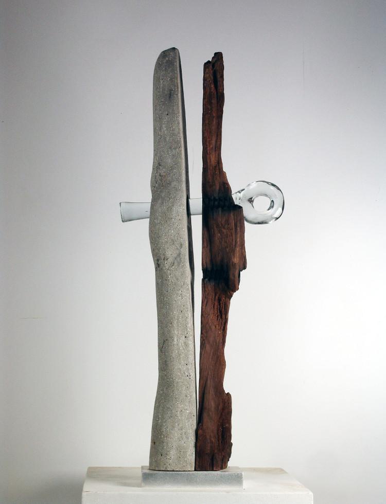 sculpture de 3 matières