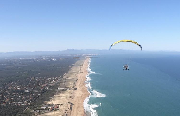 Vol avec XL Paramoteur au-dessus de la côte landaise